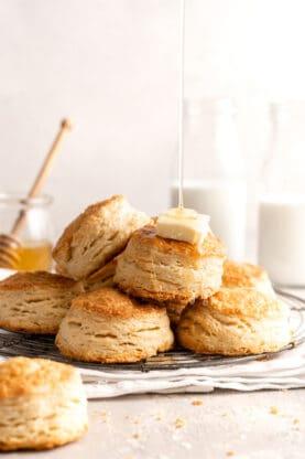 Accordian Biscuits Flaky Biscuits 6 277x416 - Flaky Biscuits (Accordion Biscuits)