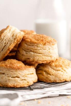 Accordian Biscuits Flaky Biscuits 8 277x416 - Flaky Biscuits (Accordion Biscuits)